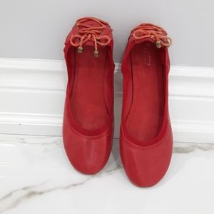 Red Ballet Slippers - SIZE 8